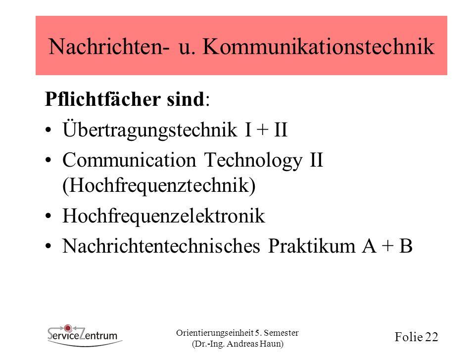 Nachrichten- u. Kommunikationstechnik