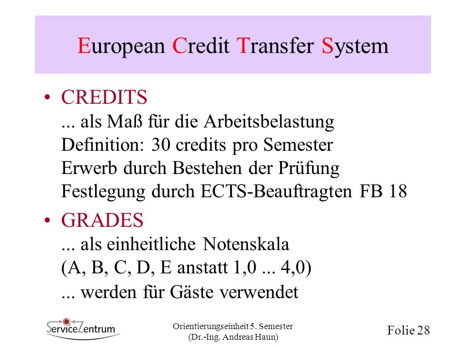 European Credit Transfer System