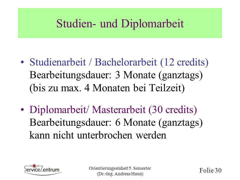 Studien- und Diplomarbeit