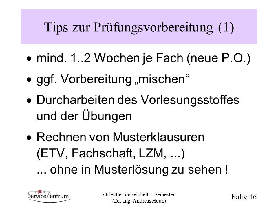 Tips zur Prüfungsvorbereitung (1)