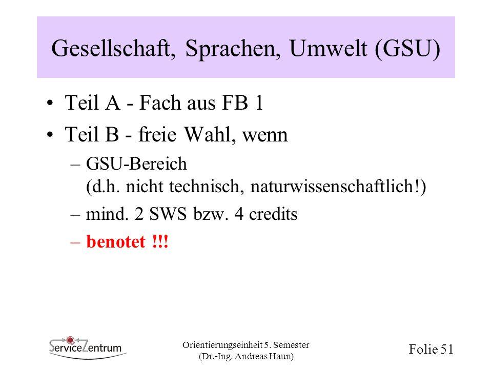 Gesellschaft, Sprachen, Umwelt (GSU)