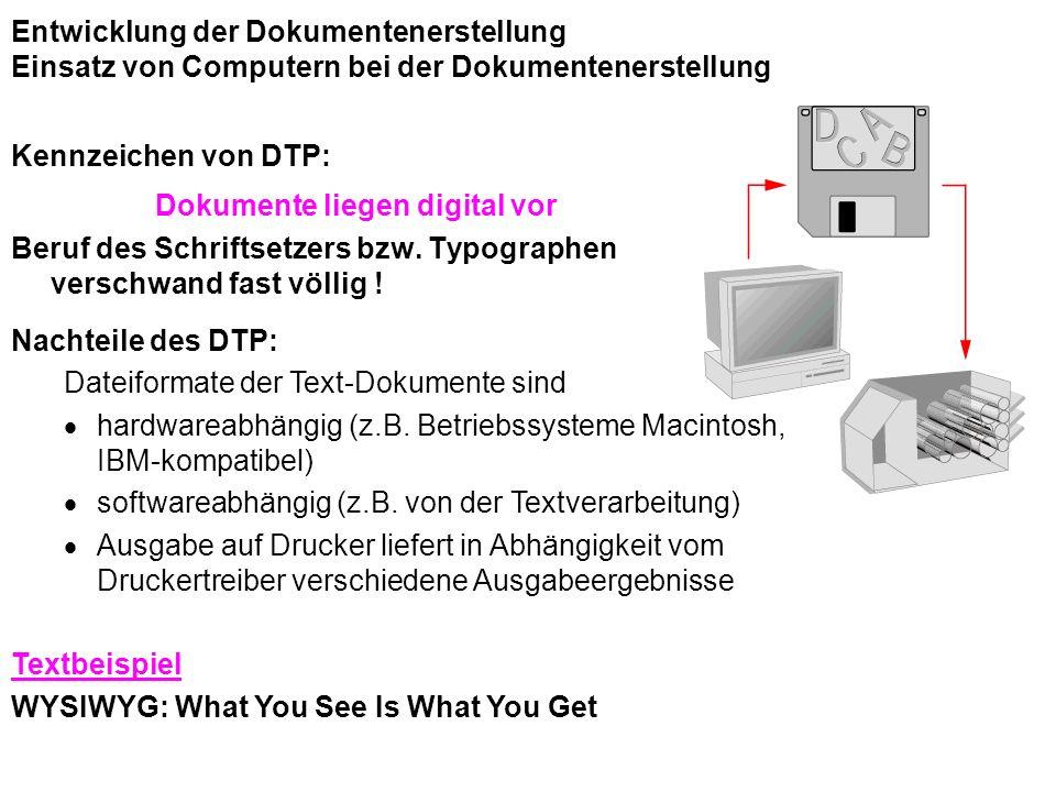 Dokumente liegen digital vor