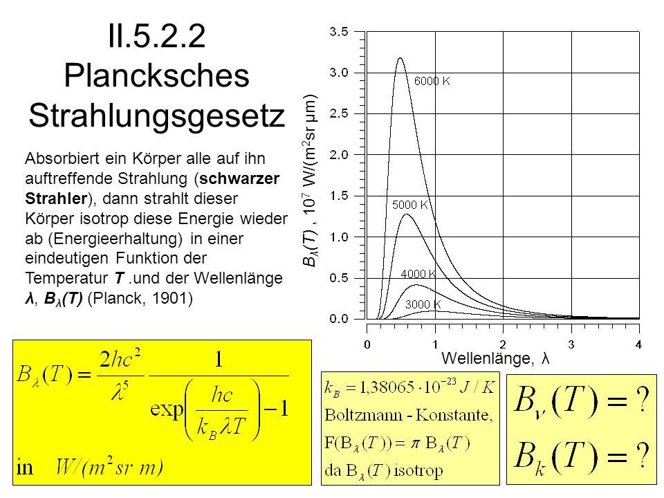 II.5.2.2 Plancksches Strahlungsgesetz