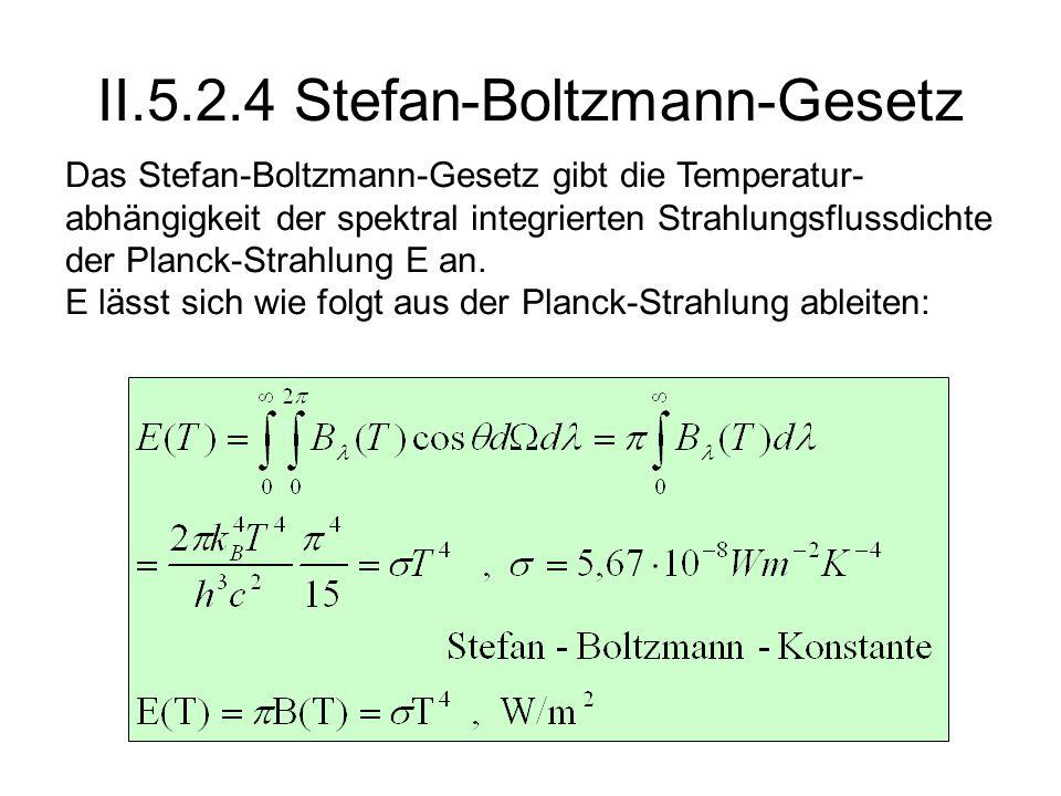 II.5.2.4 Stefan-Boltzmann-Gesetz