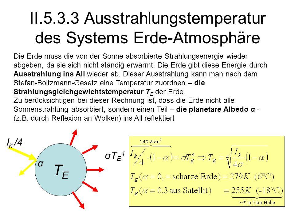 II.5.3.3 Ausstrahlungstemperatur des Systems Erde-Atmosphäre