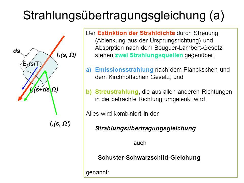 Strahlungsübertragungsgleichung (a)