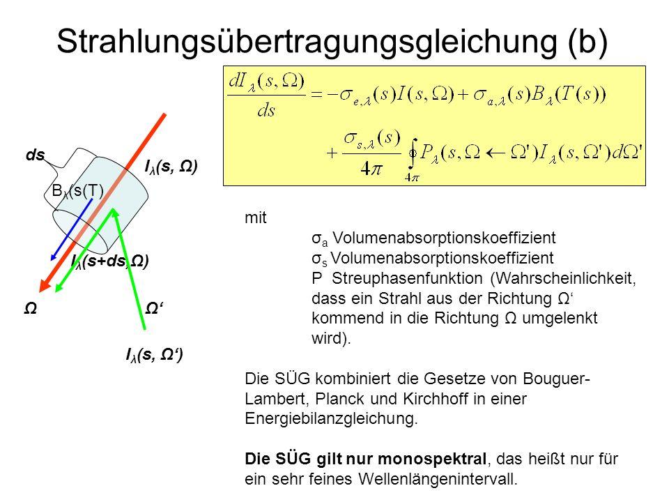 Strahlungsübertragungsgleichung (b)