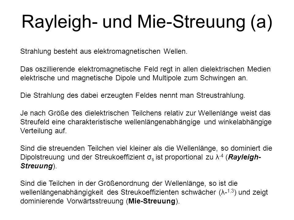 Rayleigh- und Mie-Streuung (a)