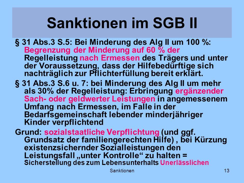 Sanktionen im SGB II