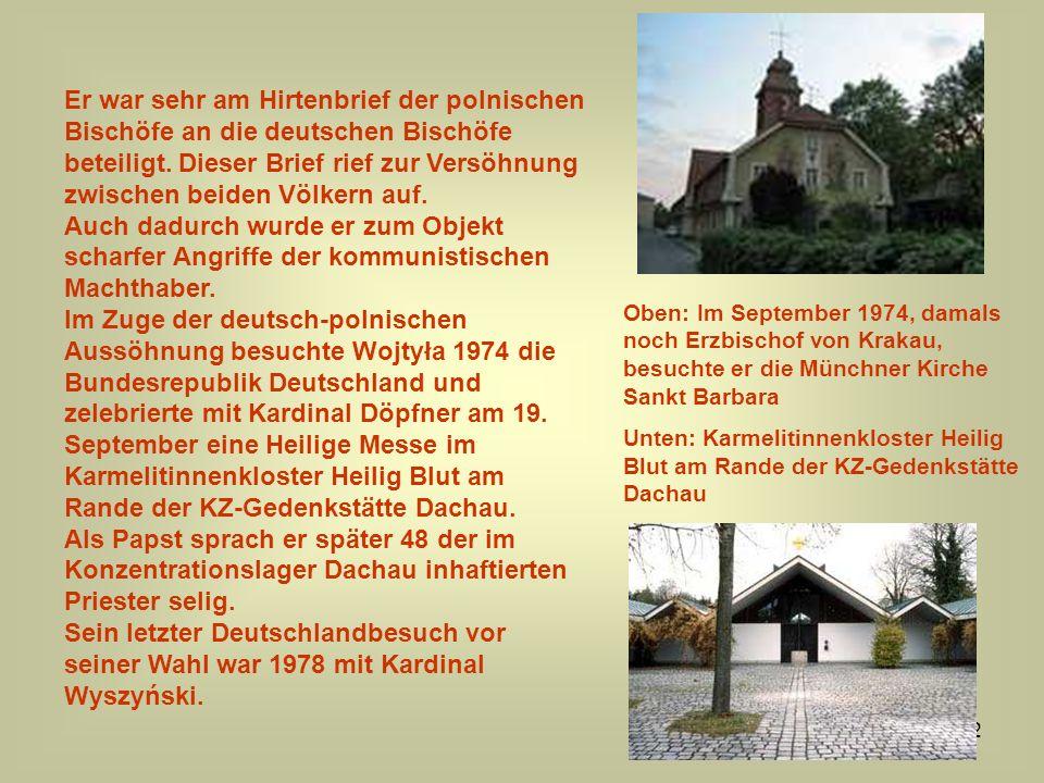 Er war sehr am Hirtenbrief der polnischen Bischöfe an die deutschen Bischöfe beteiligt. Dieser Brief rief zur Versöhnung zwischen beiden Völkern auf.