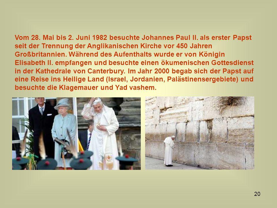 Vom 28. Mai bis 2. Juni 1982 besuchte Johannes Paul II