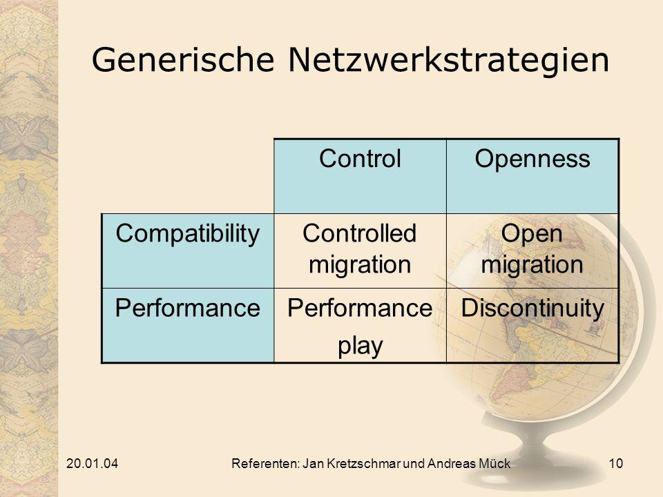 Generische Netzwerkstrategien