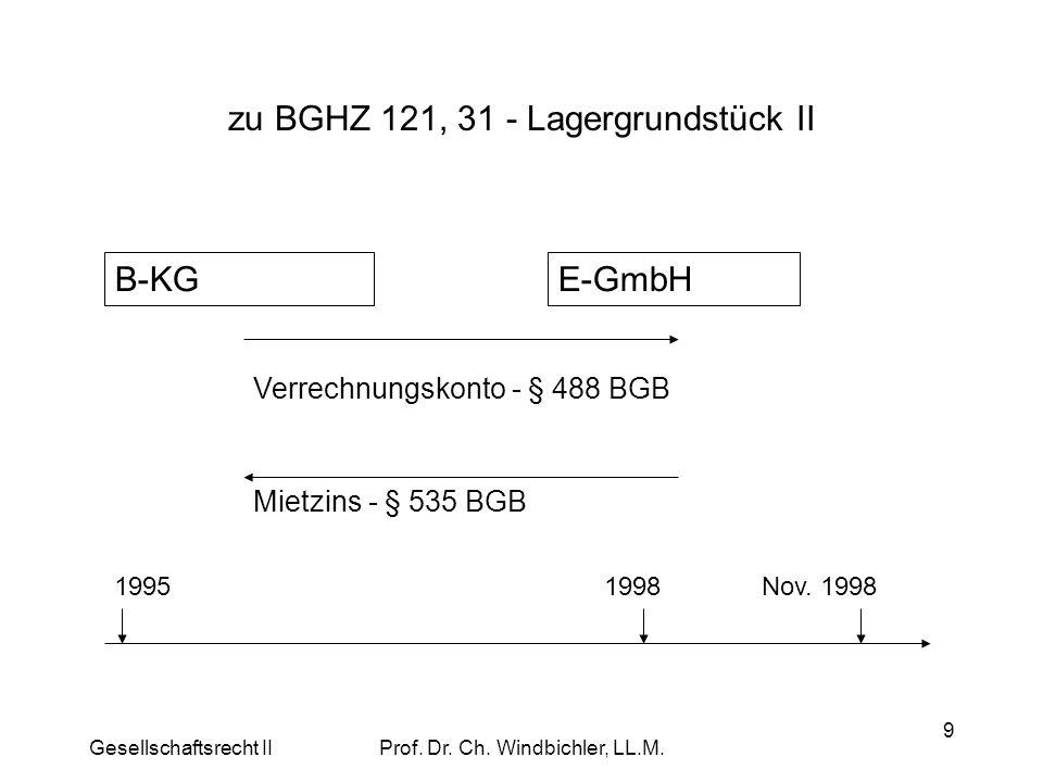 zu BGHZ 121, 31 - Lagergrundstück II