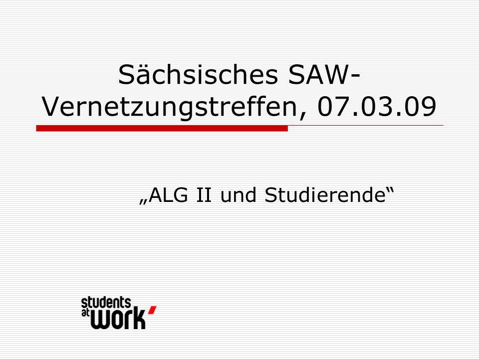 Sächsisches SAW- Vernetzungstreffen, 07.03.09