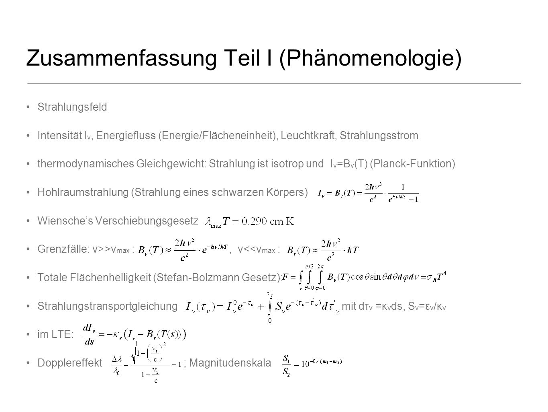 Zusammenfassung Teil I (Phänomenologie)