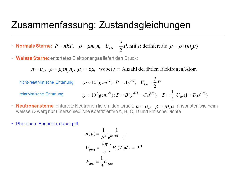 Zusammenfassung: Zustandsgleichungen