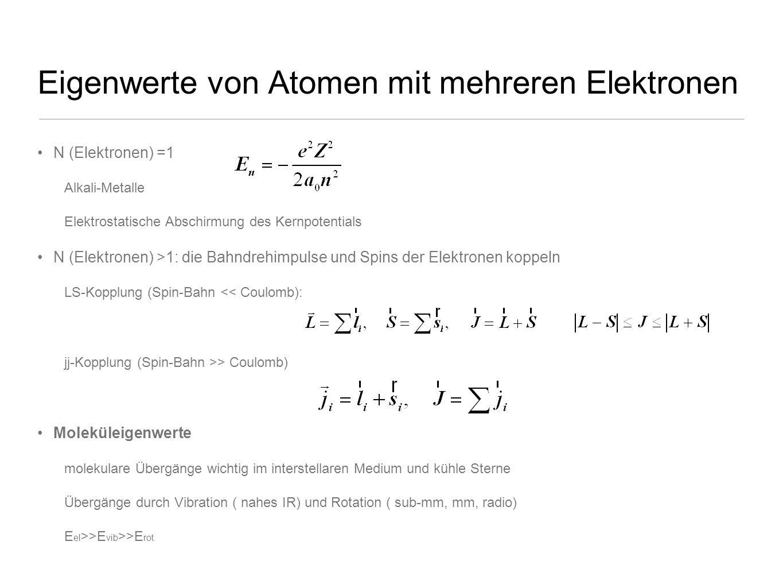 Eigenwerte von Atomen mit mehreren Elektronen