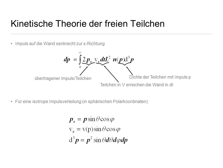 Kinetische Theorie der freien Teilchen