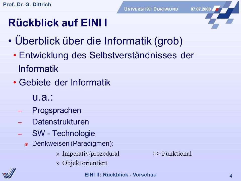 • Überblick über die Informatik (grob)