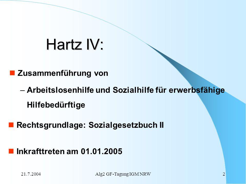 Hartz IV: Zusammenführung von