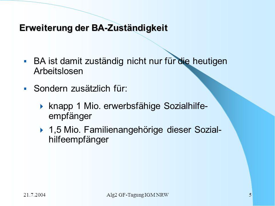 Erweiterung der BA-Zuständigkeit