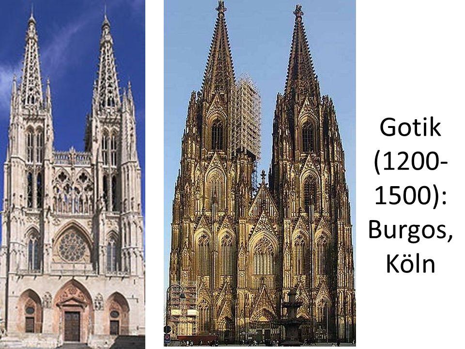 Gotik (1200-1500): Burgos, Köln