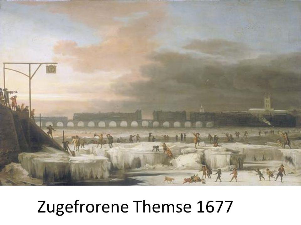 Zugefrorene Themse 1677
