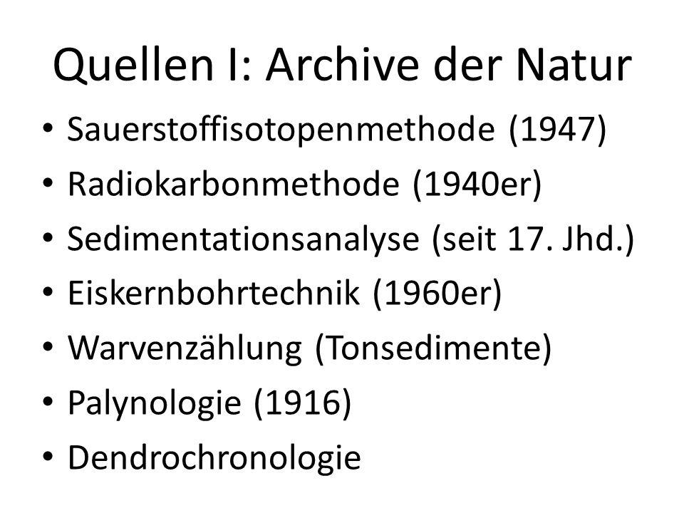 Quellen I: Archive der Natur