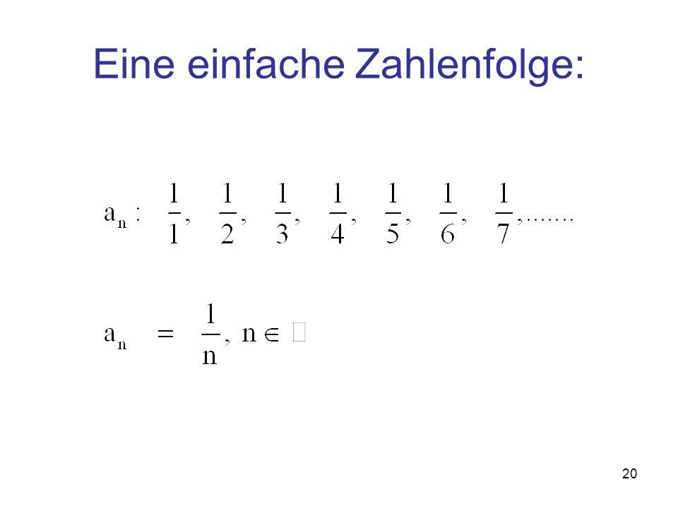 Eine einfache Zahlenfolge: