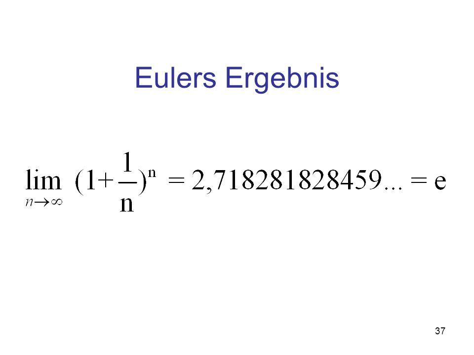 Eulers Ergebnis