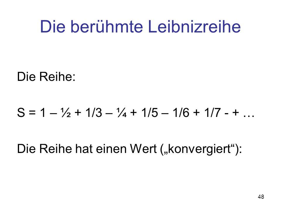 Die berühmte Leibnizreihe
