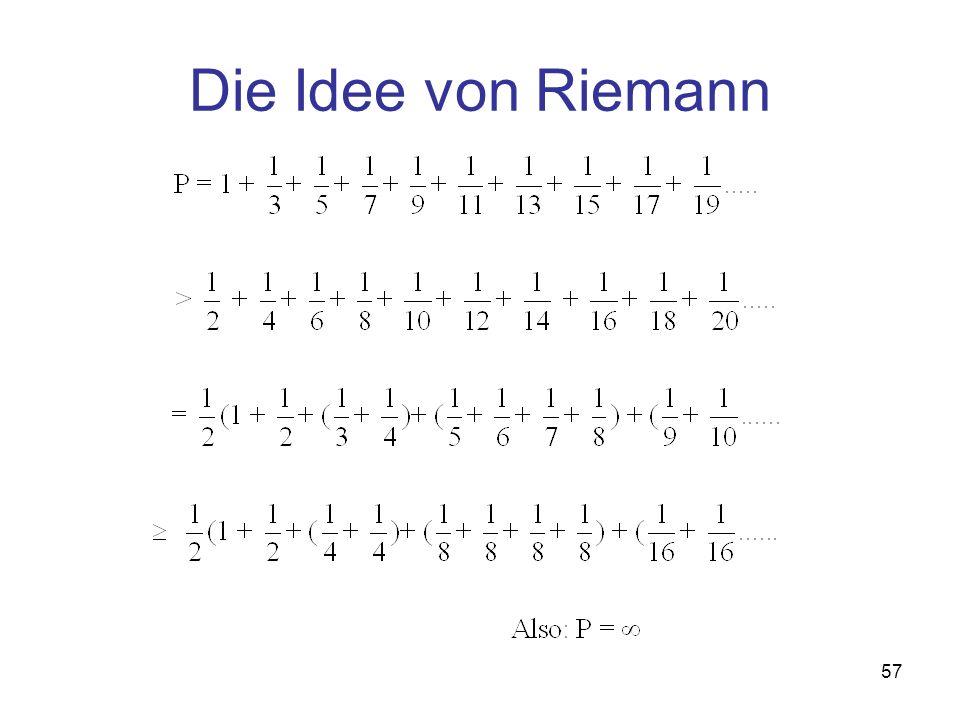 Die Idee von Riemann