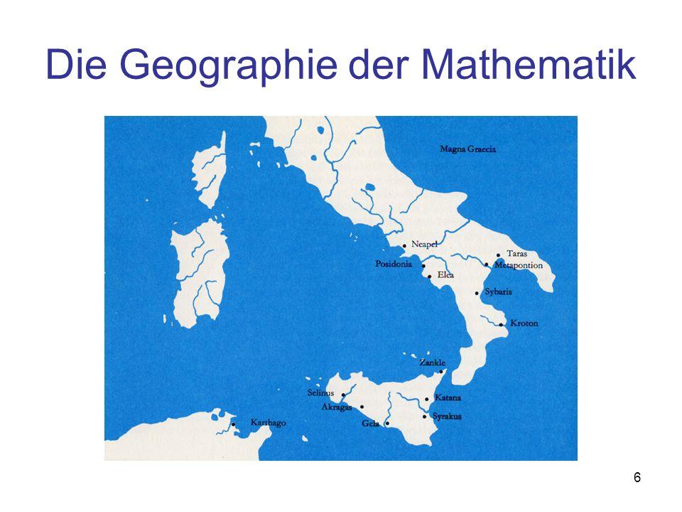 Die Geographie der Mathematik