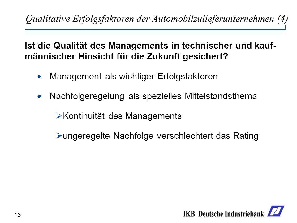 Qualitative Erfolgsfaktoren der Automobilzulieferunternehmen (4)