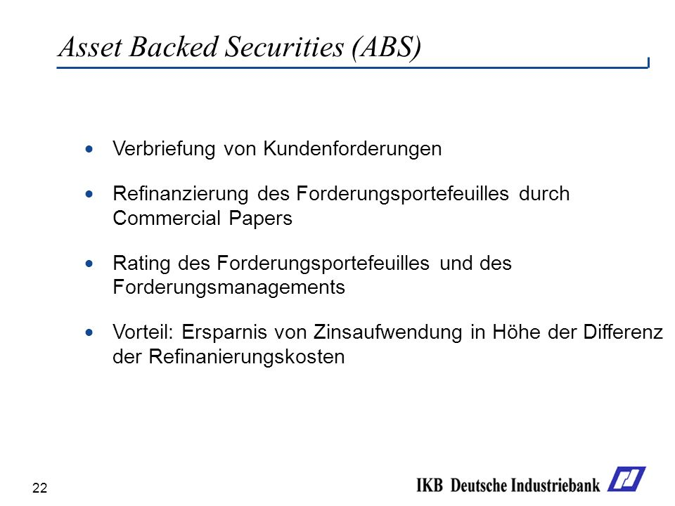 Asset Backed Securities (ABS)