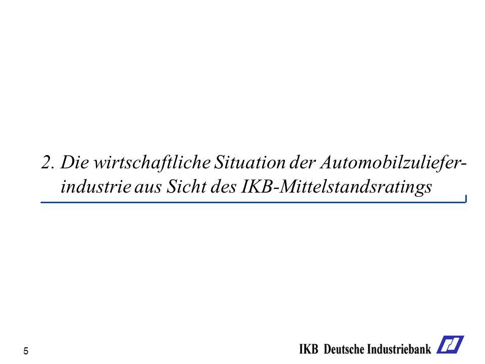2. Die wirtschaftliche Situation der Automobilzuliefer-