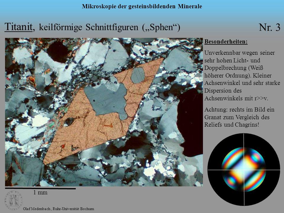 """Titanit, keilförmige Schnittfiguren (""""Sphen ) Nr. 3"""