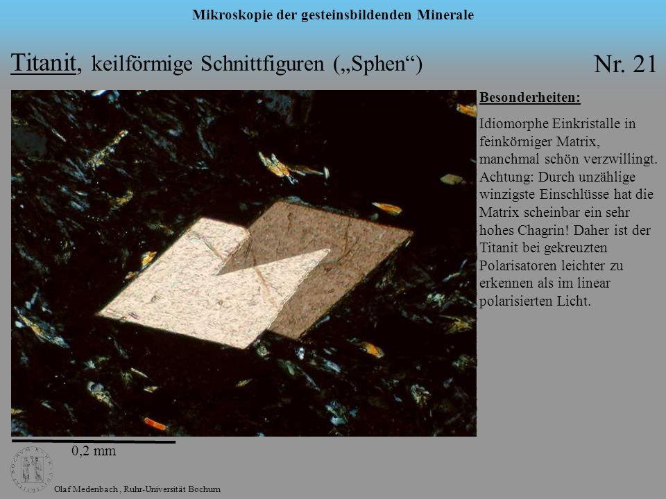 """Titanit, keilförmige Schnittfiguren (""""Sphen ) Nr. 21"""