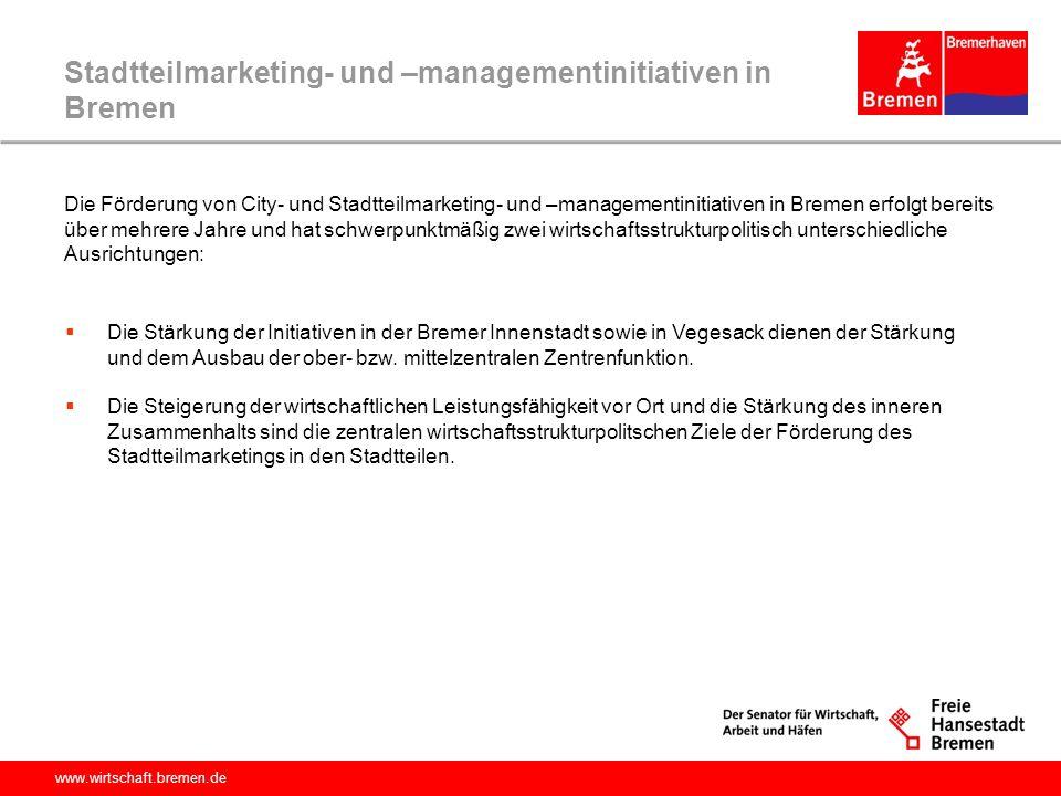 Stadtteilmarketing- und –managementinitiativen in Bremen