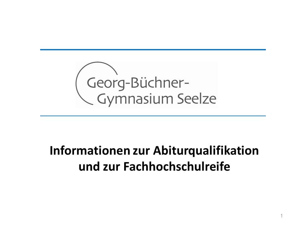 Informationen zur Abiturqualifikation und zur Fachhochschulreife