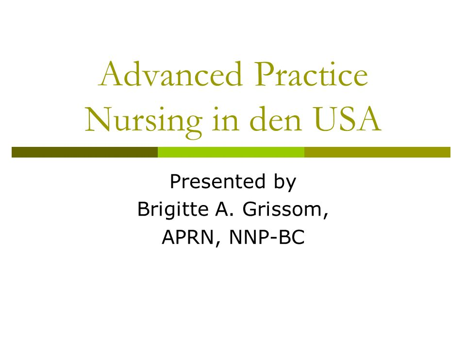 Advanced Practice Nursing in den USA