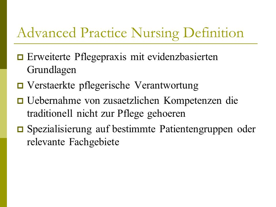 Advanced Practice Nursing Definition
