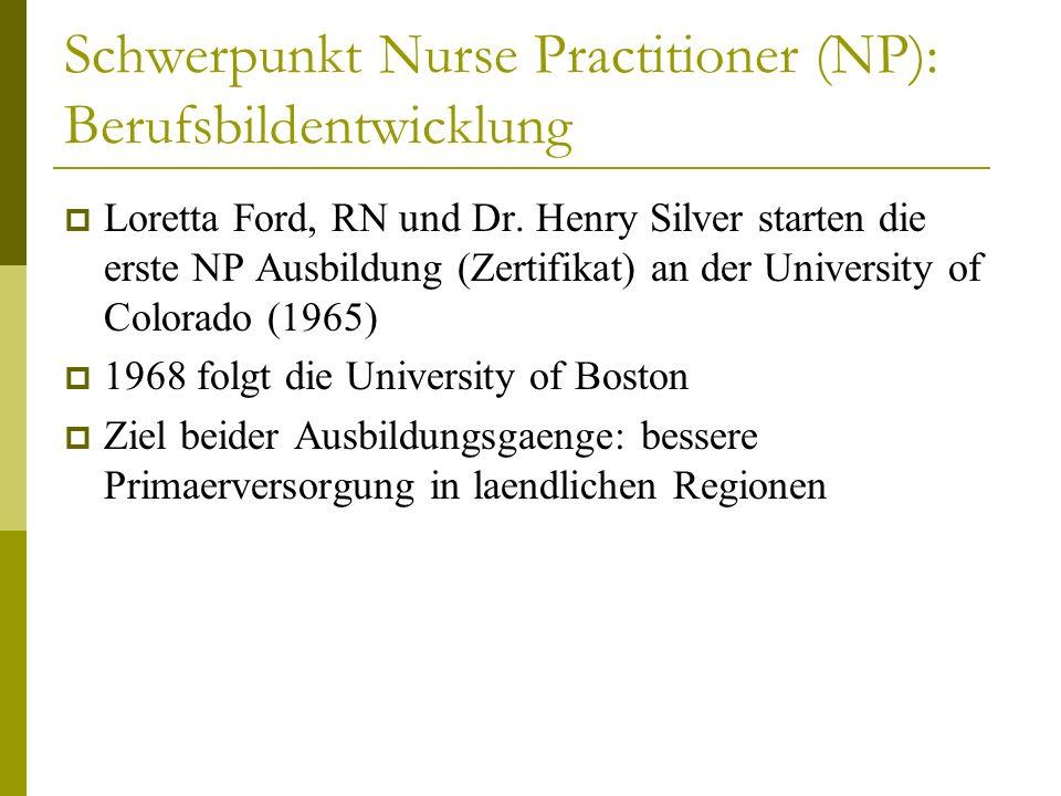 Schwerpunkt Nurse Practitioner (NP): Berufsbildentwicklung