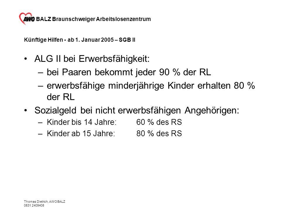 Künftige Hilfen - ab 1. Januar 2005 – SGB II
