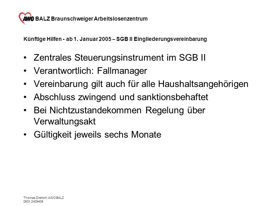 Zentrales Steuerungsinstrument im SGB II Verantwortlich: Fallmanager