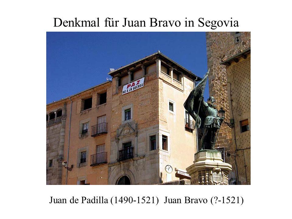 Denkmal für Juan Bravo in Segovia