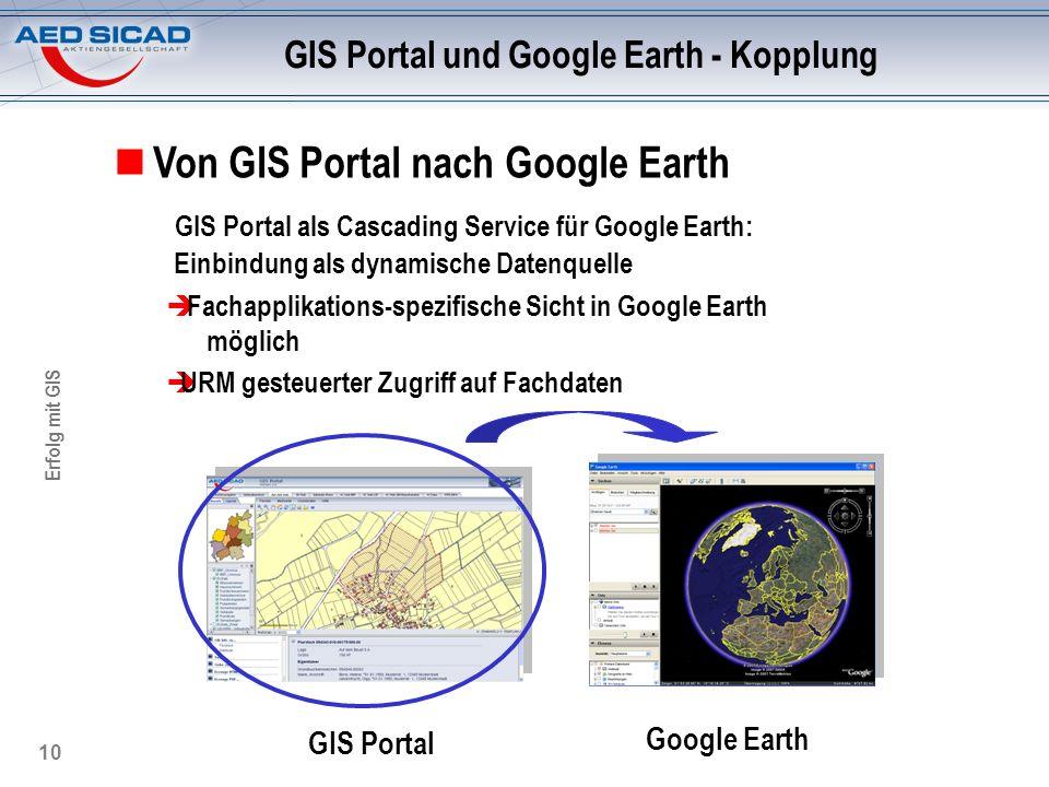 GIS Portal und Google Earth - Kopplung