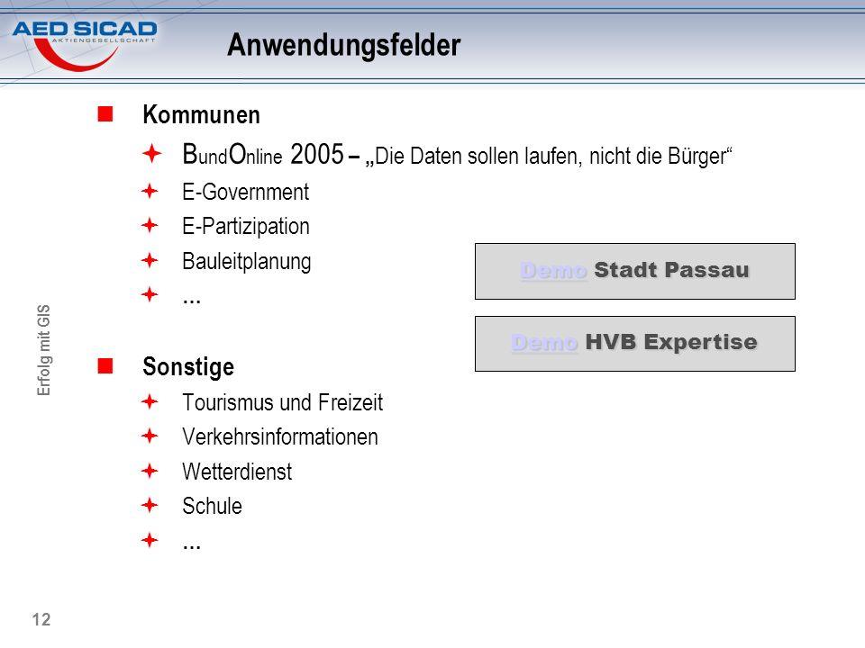 """Anwendungsfelder Kommunen. BundOnline 2005 – """"Die Daten sollen laufen, nicht die Bürger E-Government."""