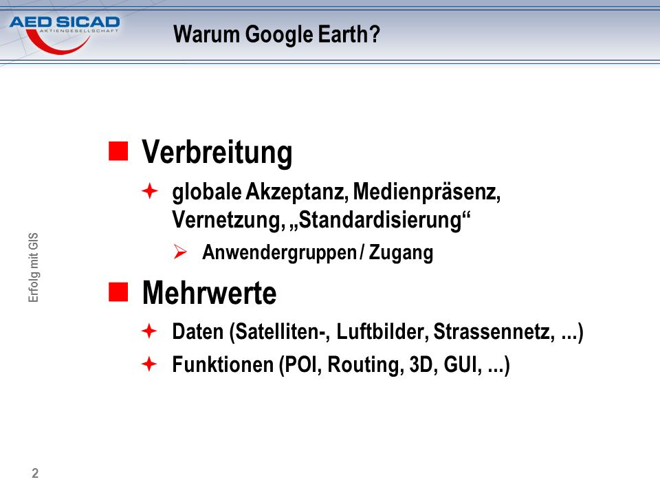 Verbreitung Mehrwerte Warum Google Earth