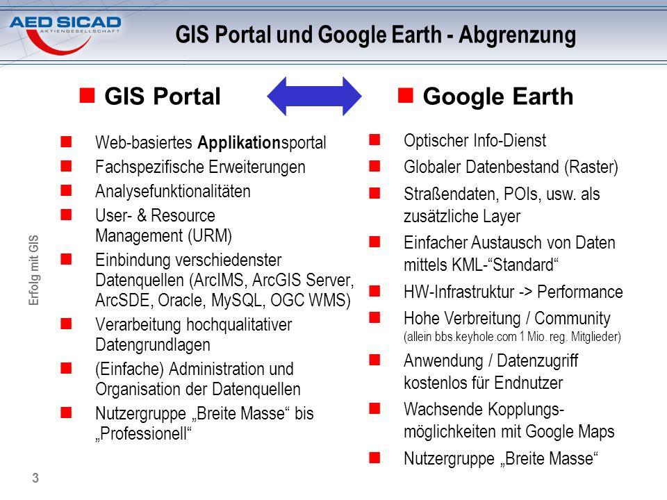 GIS Portal und Google Earth - Abgrenzung